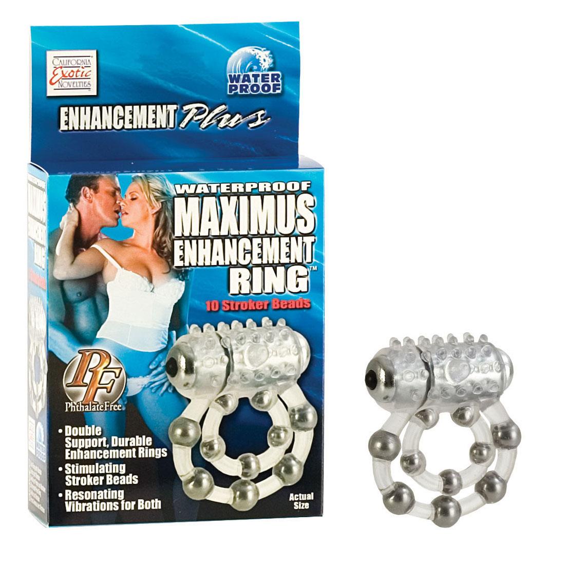 Эрекционное кольцо с массажными шариками и мини вибратором - фото 820244