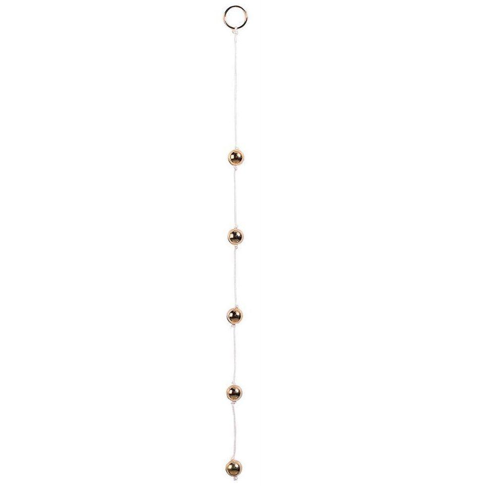 Цепочка из пяти золотистых анальных шариков - фото 128446