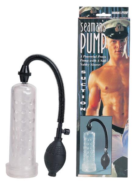 Вакуумный массажер-помпа для мужчин Seaman с силиконовой вставкой - фото 4498