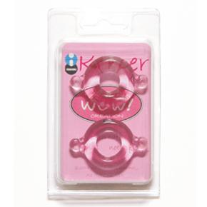 Набор из 2-х эрекционных колец различного диаметра - Keeper, прозрачные