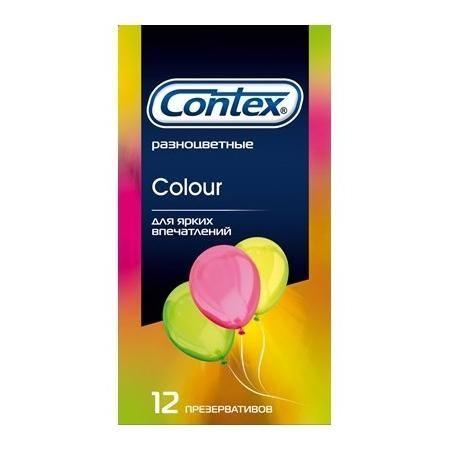 Разноцветные презервативы CONTEX Colour - 12 шт. - фото 698509