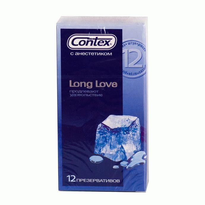 Презервативы с продлевающей смазкой Contex Long Love - 12 шт. - фото 698513