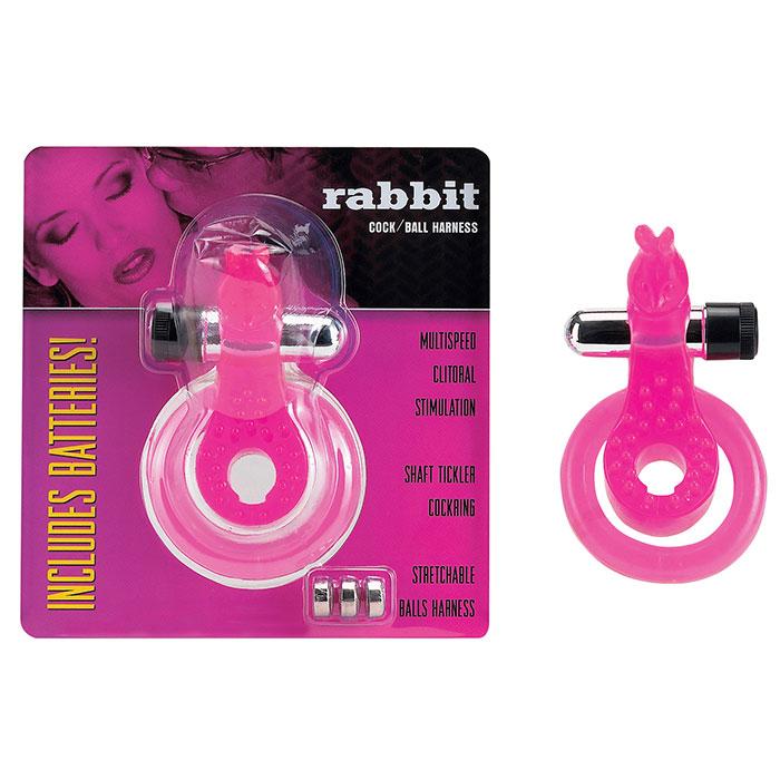 Эрекционное кольцо с вибратором *Кролик* - фото 698553