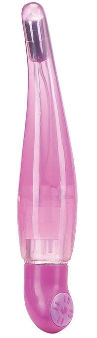 Розовый вибромассажёр PERFECT CURVE - 16 см. - фото 128869