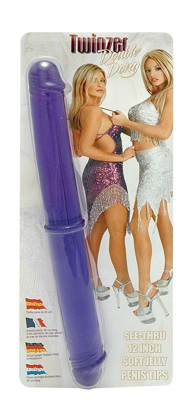 Двухсторониий фаллоимитатор Twinzer Double Dong - 33 см. - фото 128891