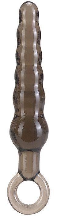 Дымчатая фигурная анальная ёлочка ANAL STICK - 14 см. - фото 1141094