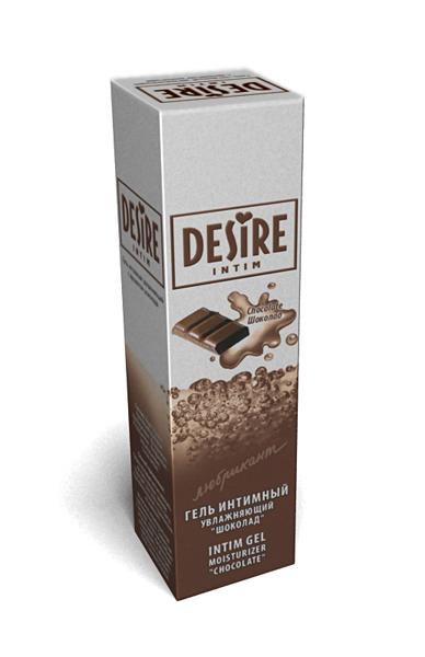 Интимный гель-любрикант DESIRE с ароматом шоколада, 60 мл.