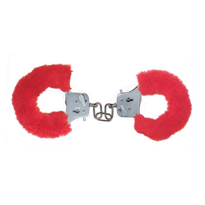 Красные игровые наручники - фото 291538