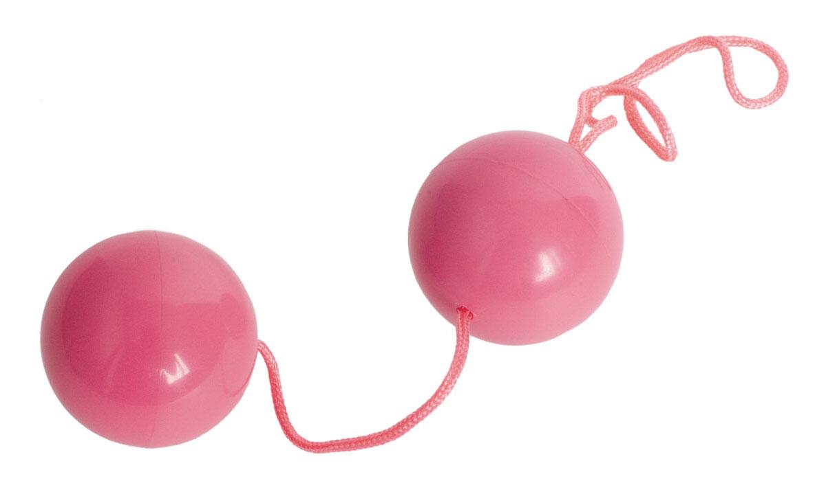 Розовые вагинальные шарики BI-BALLS - фото 291612