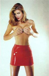 Красная юбка из латекса Red Latex Mini Skirt