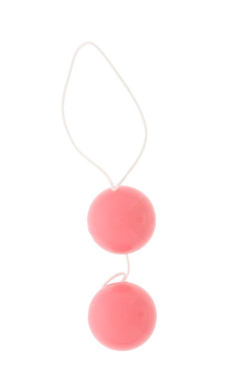 Розовые вагинальные шарики Vibratone DUO-BALLS - фото 291624