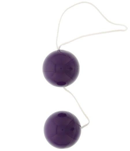Фиолетовые вагинальные шарики VIBRATONE DUO BALLS PURPLE BLISTERCARD - фото 176412