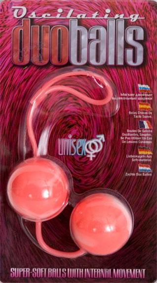 Вагинальные мягкие шарики MARBILIZED DUO BALLS PINK - фото 5275