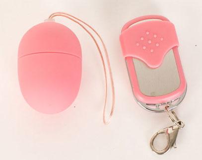 Розовое виброяйцо на дистанционном пульте управления  ToyFa