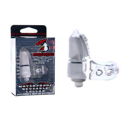Белое эрекционное кольцо с вибратором - фото 311272