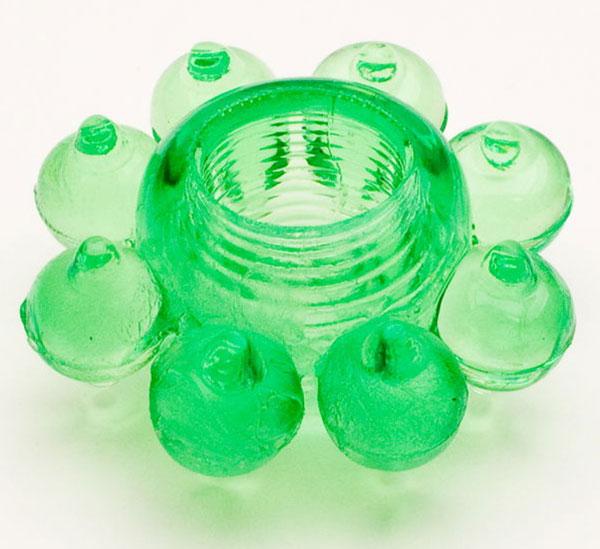 Зеленое эрекционное кольцо-цветок - фото 311310