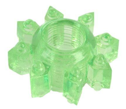 Зеленое эрекционное кольцо-звезда - фото 631309