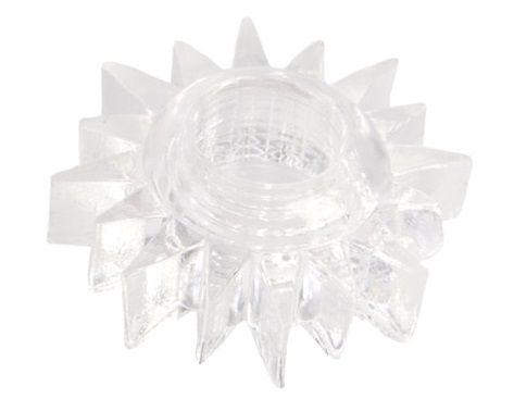 Прозрачное гелевое эрекционное кольцо-солнце - фото 5300
