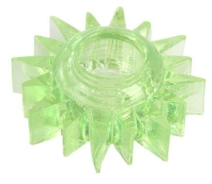 Зеленое эрекционное кольцо-солнце - фото 313250