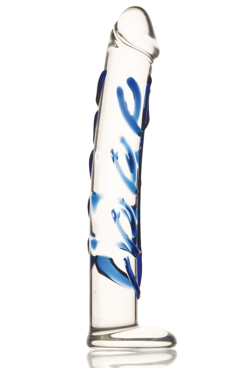 Эксклюзивный фаллос из стекла  ручной работы - 18 см. - фото 313278