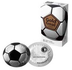 Презервативы CONTEX №8 Gold Goal, 8 шт.