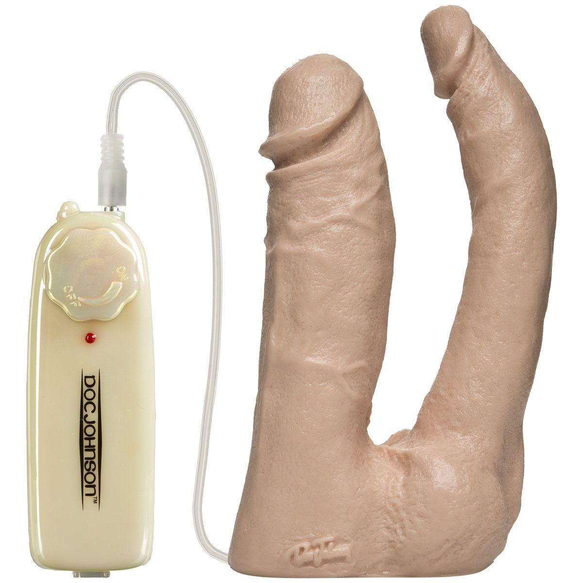 Анально-вагинальная вибронасадка Harness Vibro Double Penetrator - 16,7 см. - фото 242034