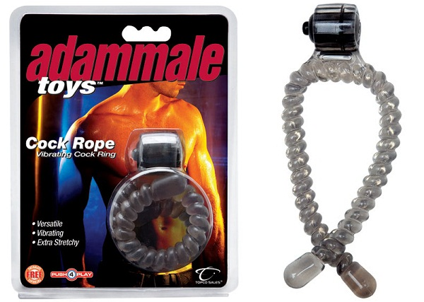 Эрекционное лассо с вибрацией Adam Male Toys Cock Rope - фото 699615