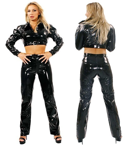 Черные брюки из винила (Ledapol 1162 ) - фото 202710
