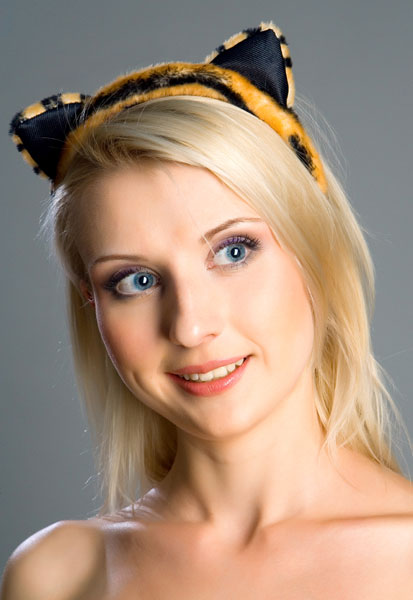 Ободок на голову  Тигриные ушки   - фото 242337
