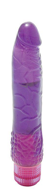 Водонепроницаемый фиолетовый вибромассажер H2O PATRIOT WATERPROOF VIBRATOR - 19 см. - фото 292503