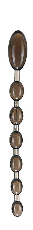 Дымчатая анальная цепочка ANAL ROD - 27,4 см. - фото 313851