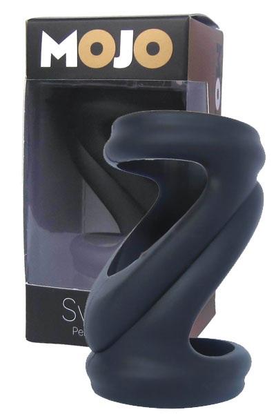 Черная силиконовая насадка-эректор Mojo Svelte - фото 6030