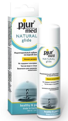 Нейтральный лубрикант на водной основе pjur MED Natural glide - 100 мл. - фото 5902