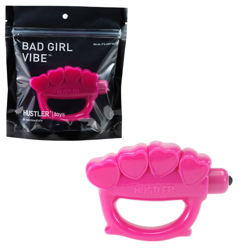 Вибратор-кастет розовый BAD GIRL VIBE