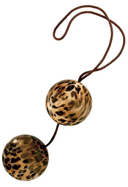 Леопардовые вагинальные шарики DUOTONE BALLS - фото 1253773
