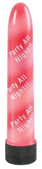 Бело-красный вибратор PARTY ALL NIGHT - фото 237256