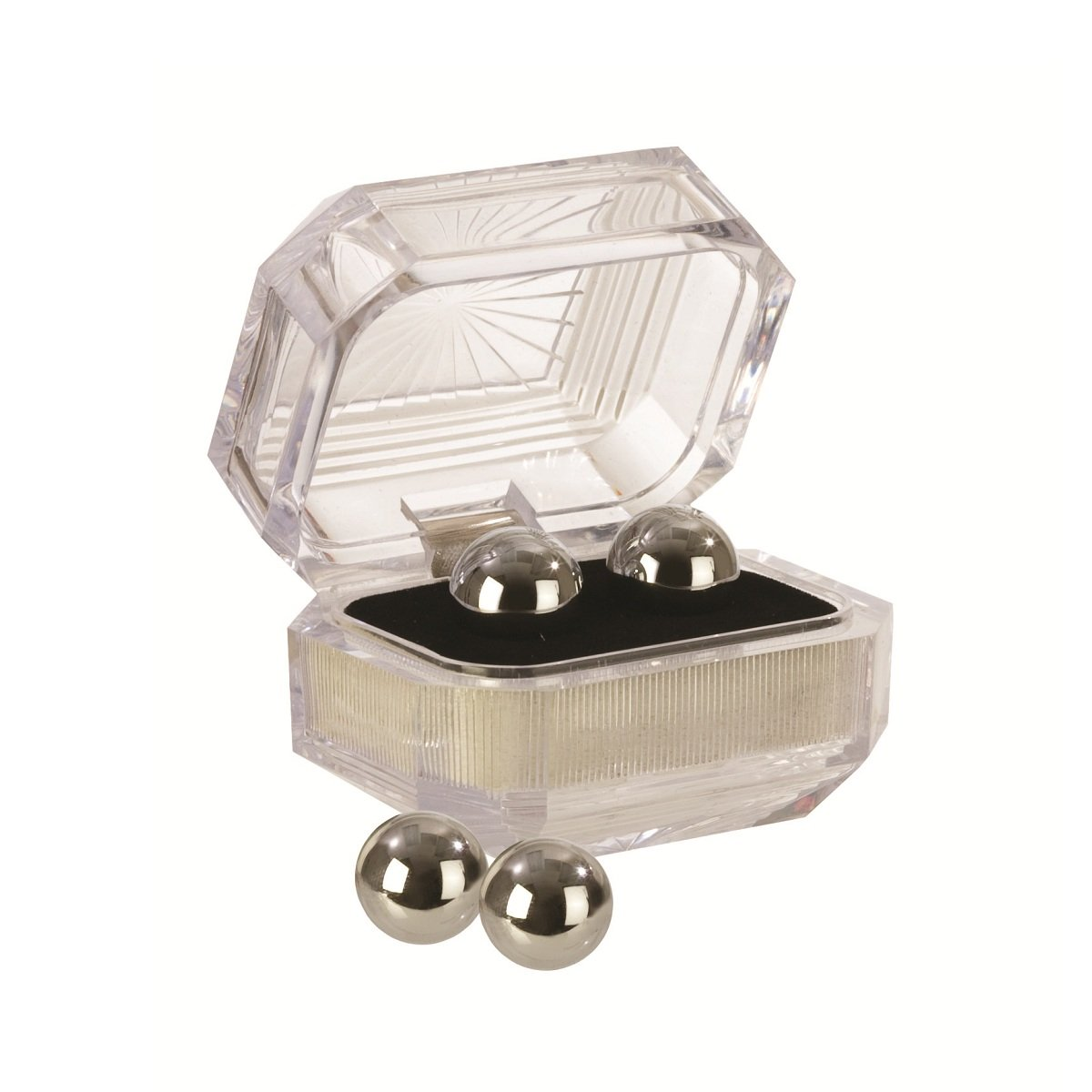 Серебристые вагинальные шарики Silver Balls In Presentation Box - фото 1647111