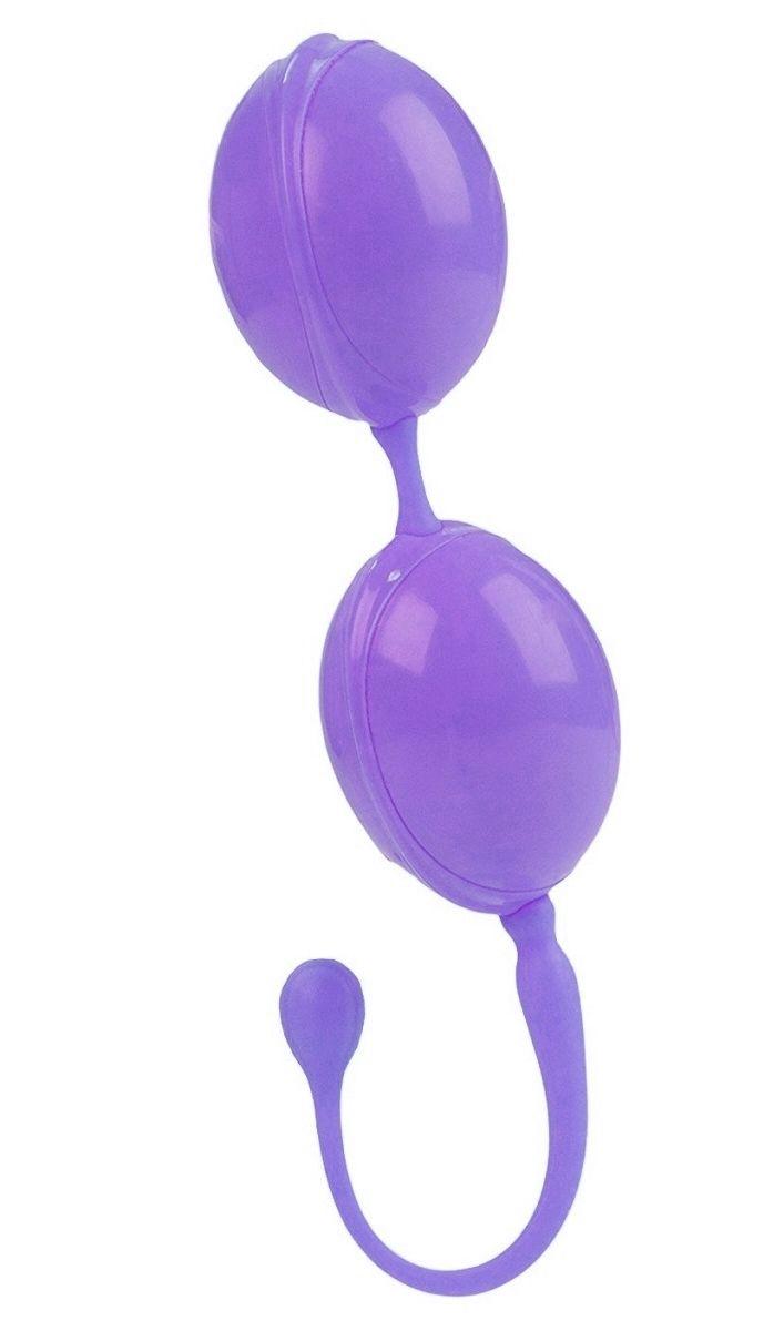 Фиолетовые вагинальные шарики LAmour Premium Weighted Pleasure System - фото 6079