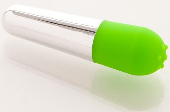 Вибратор зеленый - 10 см. - фото 512935