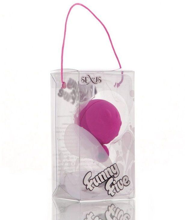 Фиолетовый виброшарик с выносным пультом-кнопкой - фото 278244