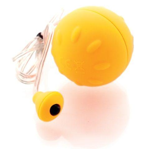 Желтый виброшарик с выносным пультом-кнопкой - фото 130332