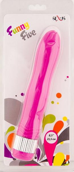Фиолетовый водонепроницаемый вибратор - 21,5 см. - фото 130339