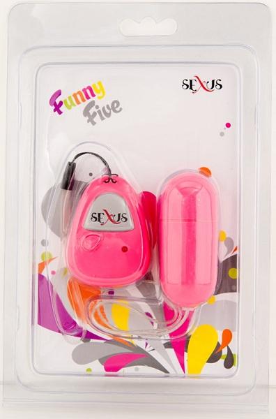 Розовое виброяйцо с дистанционным управлением - 7 см. - фото 312155