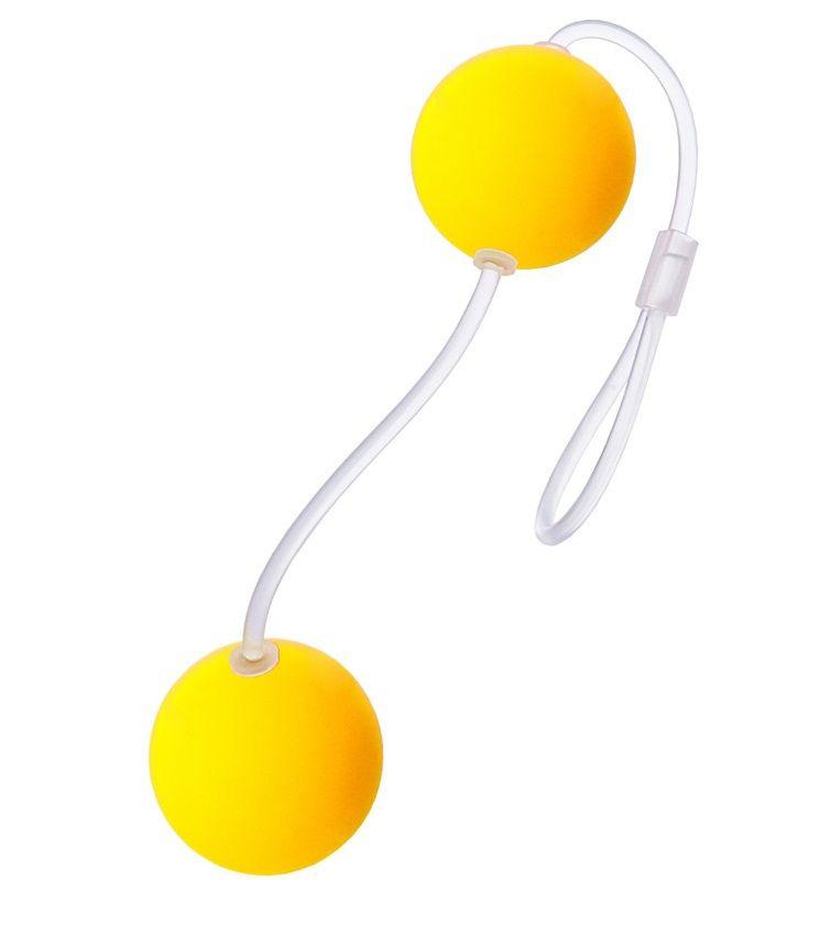 Желтые вагинальные шарики - фото 6219