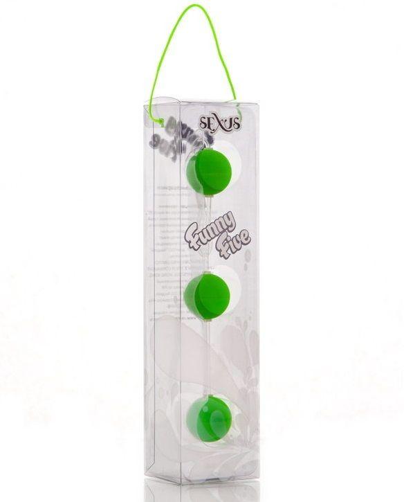 Анальная цепочка из 3 зеленых шариков - фото 130381