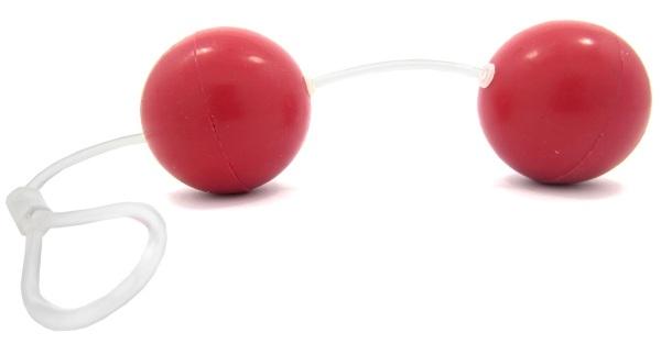 Красные вагинальные шарики из силикона, 4,5 см. - фото 237365