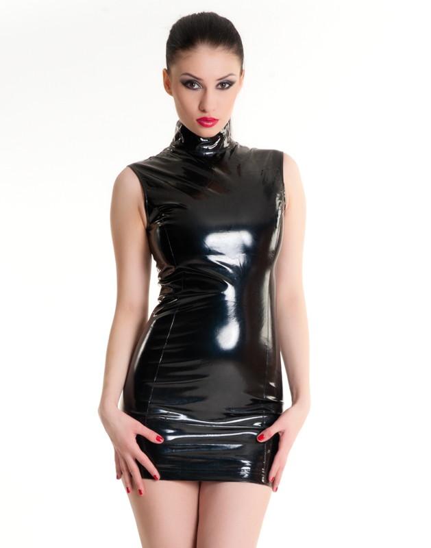Лаковое платье на молнии - фото 700584