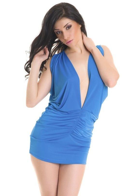 Эффектное эротическое платье с драпировкой - фото 700594
