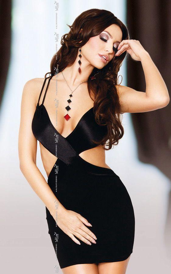 Черное платье Elly с открытой спиной