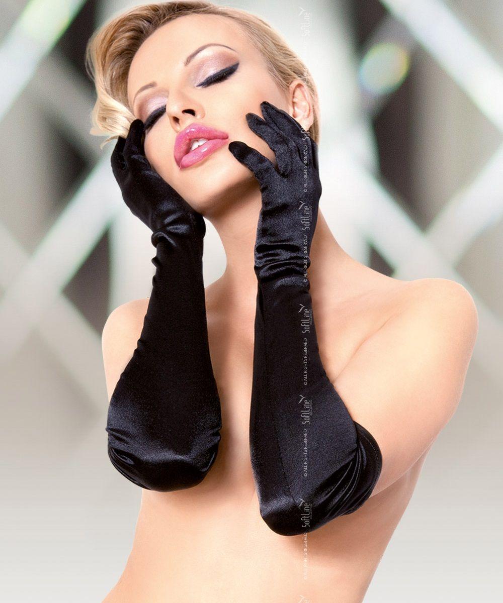 Длинные атласные перчатки - фото 6501